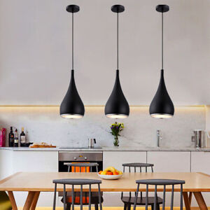 3x Black Pendant Light Kitchen Pendant Lighting Bar Ceiling Lights Modern Lamp Ebay
