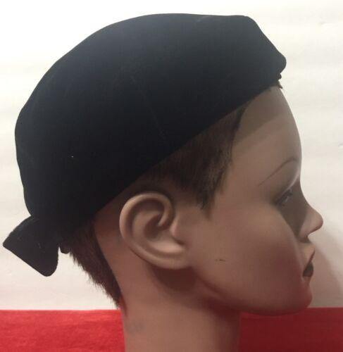 Vintage Clover Lane Medium Black Pill Box Hat