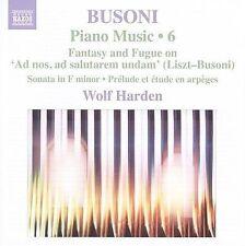 Ferruccio Busoni: Piano Music, Vol. 6, New Music