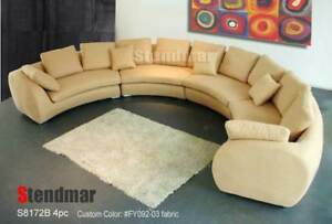 188 W 4pc Fabric Modern Round Sectional