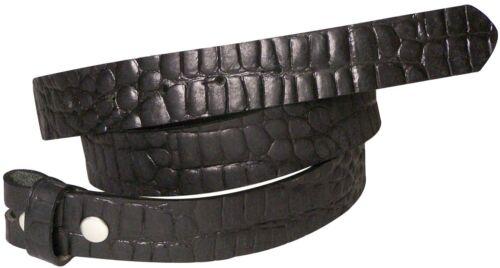 FRONHOFER Wechselgürtel 3 cm Krokodilleder Optik Druckknopf Gürtel Vollrindleder