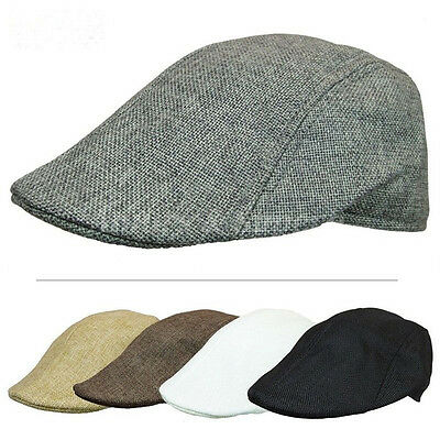 Both For Women & Men Herringbone linen Ivy Golf Hats Gatsby Cap Chic peaked cap
