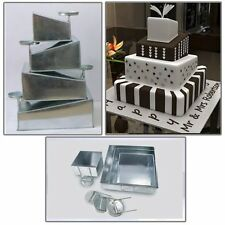 Euro s Multi Layer Cake Pans Mini Topsy Turvy Square 4 Tier Wedding Pan
