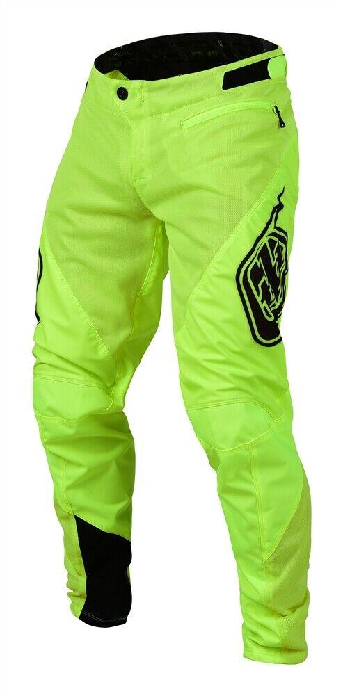 Troy Lee Designs Mountain Bike Downhill et BMX Sprint Pantalon-Flo jaune