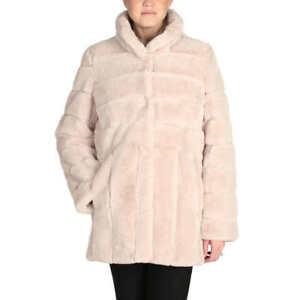 Kristen-Blake-Women-039-s-Ladies-039-Faux-Fur-Coat-Jacket-Size-M-Beige