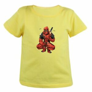Kids Girls Boys T Shirts Print Funny Cute Deadpool Tee Children Tops