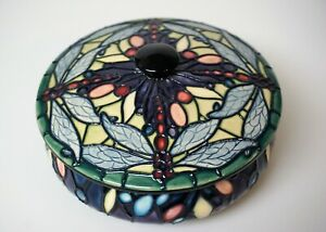 Moorcroft-Favrile-Covered-Dresser-Box-Nicola-Slaney-First-Quality-Mint