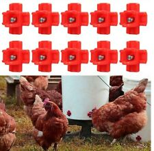 10 Horizontal Side Mount Chicken Water Nipples Automatic Poultry Waterer No Mess