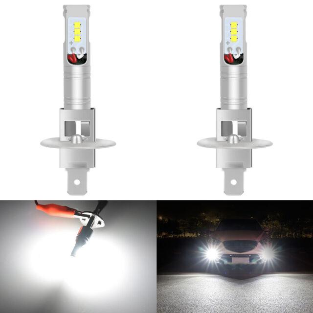 2x H1 Cree CSP LED 160W Voiture feu de brouillard Ampoule Phare DRL Xenon 6000K