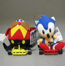 Sonic The Hedgehog SEGA 1992 Sonic Eggman Plush Cart w/Tag UFO doll MINT Japan 1