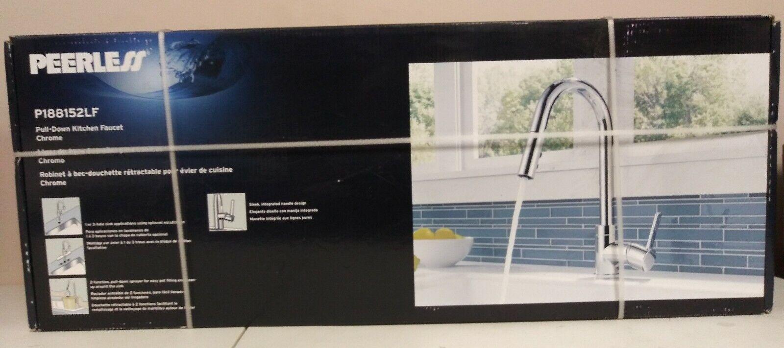 Chrome Delta Faucet P188152lf Peerless Apex Single Handle Pull Down Kitchen Faucet Tools Home Improvement Faucet Parts