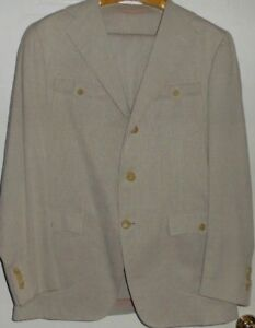 WUNDERKIND-MENS-Suits-Size-XL-52-100-Cot-Col-Beige-Made-in-Italy-Mint-Cond