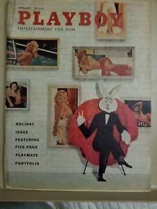 Playboy-January-1958-Good-Condition-Free-Shipping-USA