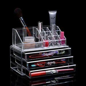 Espositore Organizer Porta Trucco Box Portagioie Cosmetici 3 Cassetti Art. 10254