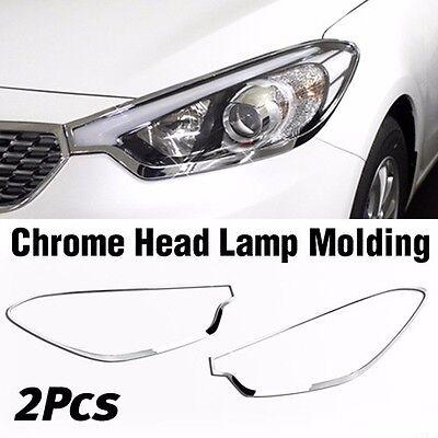 Carens Chrome Head Lamp Garnish Molding Trim C480 For KIA 2013-2018 Rondo