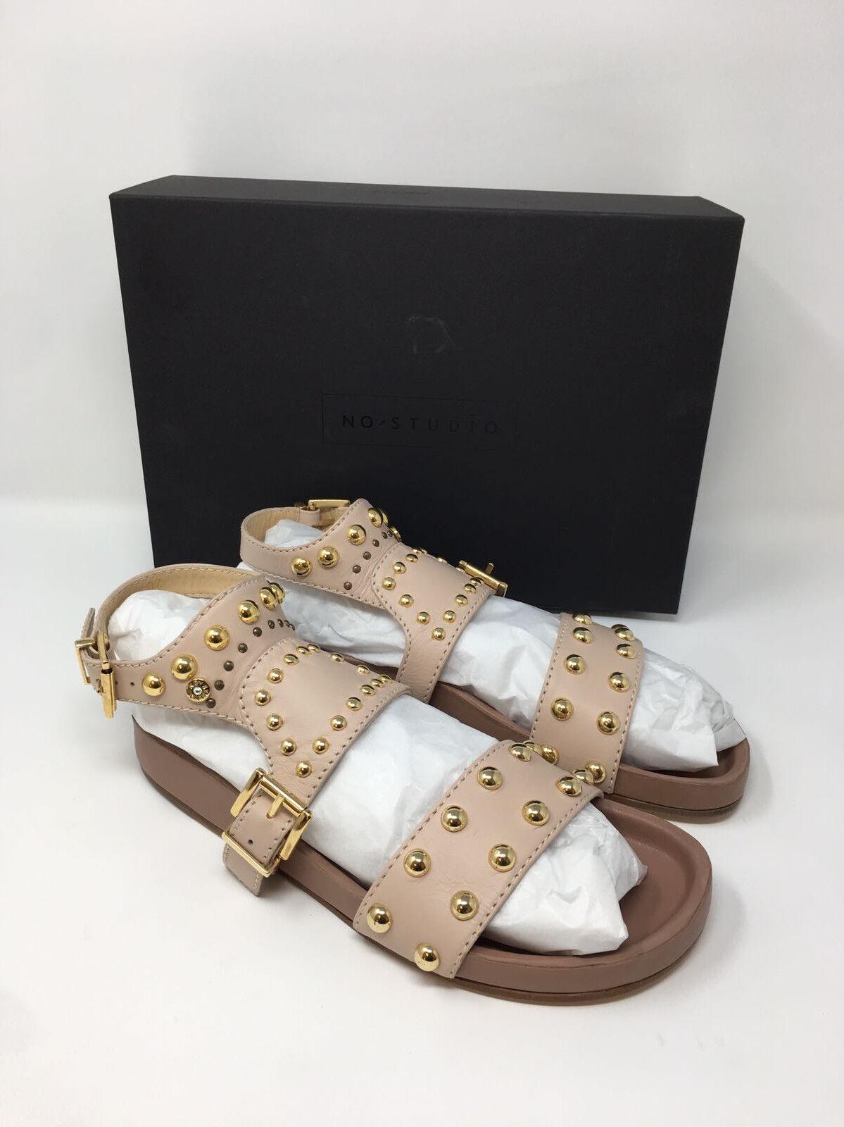 NO STUDIO Zuzu Nude Leather Studded Sandals £250