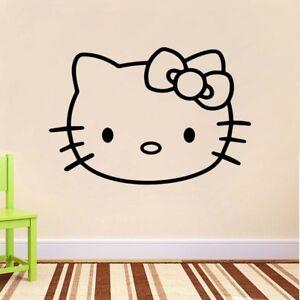 Letti Per Bambini Hello Kitty.Logo Di Hello Kitty Per Bambini Wall Art Camera Da Letto Adesivo