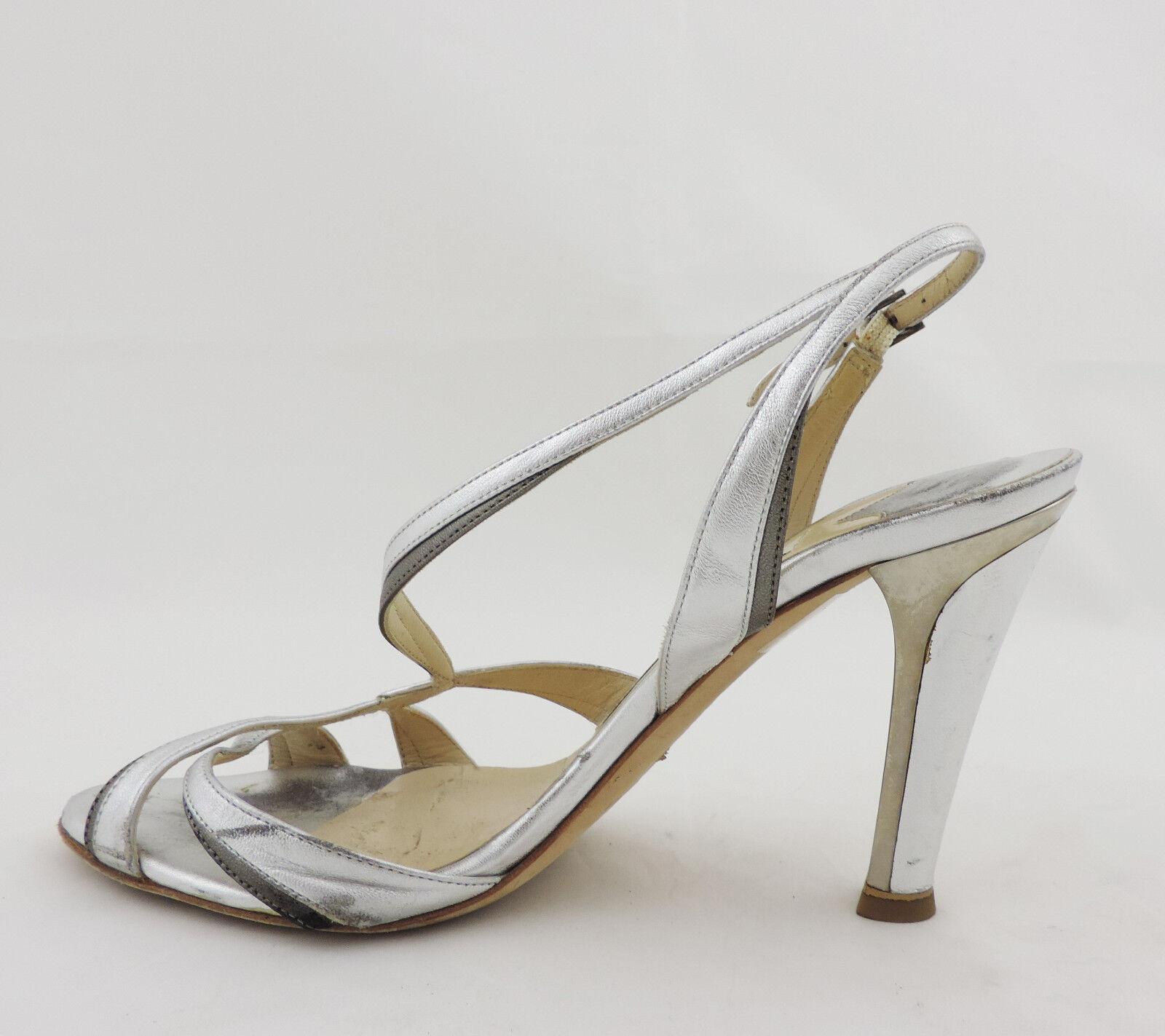 Jimmy high Choo Sandale 36,5 silber high Jimmy heels Leder pumps 29d37b