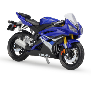 maisto 1 18 yamaha yzf r6 yzf r6 blue motorcycle bike diecast model toy ebay. Black Bedroom Furniture Sets. Home Design Ideas