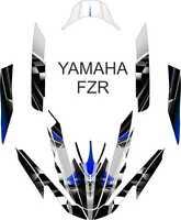 Yamaha Fzr Jet Ski Wrap Graphics Pwc Stand Up Jetski Decal Kit Wave Runner 2
