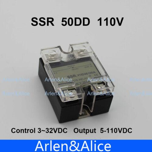 50DD SSR Control voltage 3~32VDC output 5~110VDC DC single phase DC solid