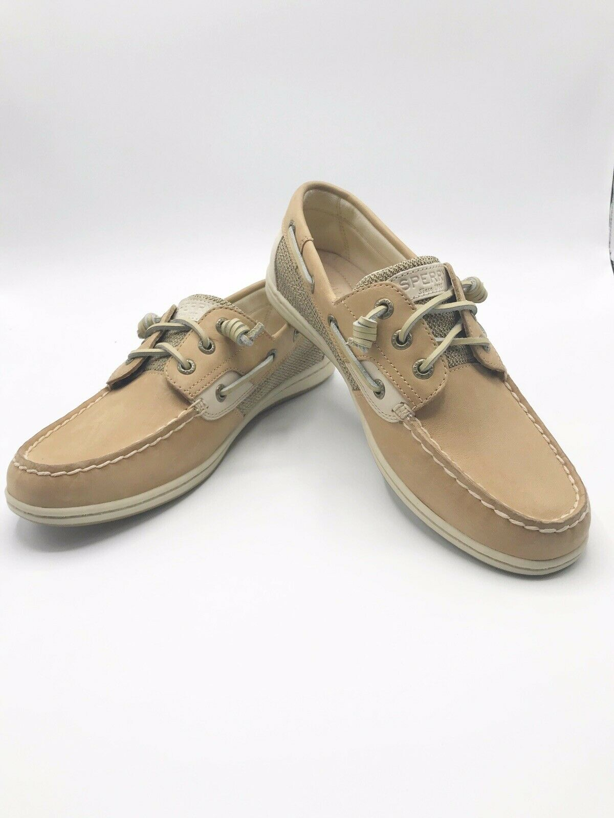 Songfish Slip on Boat Shoe Grey White 9 M Sperry Womens