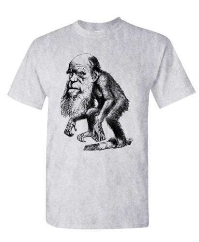hipster retro vintage style DARWIN Cotton Unisex T-Shirt