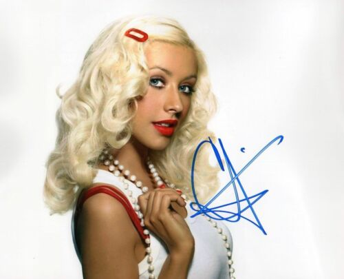 CHRISTINA AGUILERA AUTOGRAPHED SIGNED A4 PP POSTER PHOTO PRINT 9