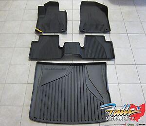 2014-2017 jeep cherokee all weather black slush mats and cargo