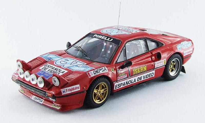 Ferrari 308 gtb   1 rallye di spagna 1984 zanini   osona 1 43 modell Besteen modelle