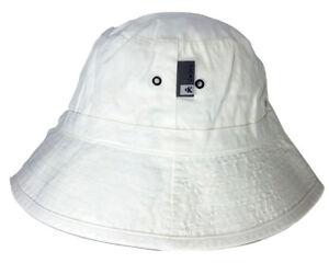 Calvin-Klein-Jeans-cappello-pescatore-Made-in-Italy-taglia-S-bianco-corda