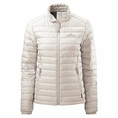 Kathmandu Heli Womens Lightweight Duck Down Coat Warm Puffer Jacket v2 White