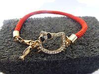 Arm Candy Hello Kitty Black Bow Rope Fashion Friendship Rhinestone Bracelet