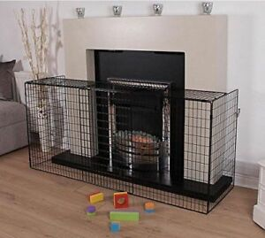 New Extending Black Metal Fire Guard Fire Place Stove