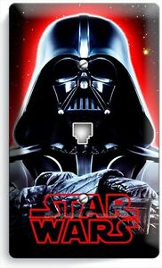 DARTH VADER RED SWORD STAR WARS DARK FORCE DOUBLE LIGHT SWITCH COVER ROOM DECOR