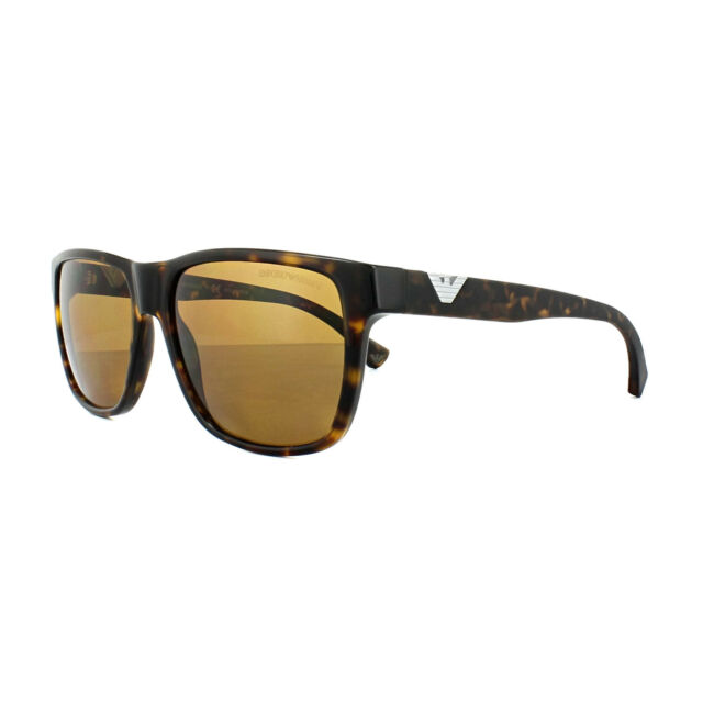 8e14cb79deb9 Emporio Armani Unisex Sunglasses Dark Havana Polarised Brown 4035 ...