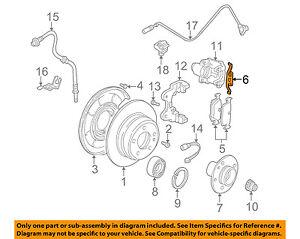 image is loading bmw-oem-06-10-m5-brake-rear-brake-