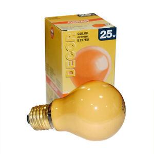 osram gl hbirne 25w orange e27 25 watt gl hlampe gl hbirnen party gl hlampen ebay. Black Bedroom Furniture Sets. Home Design Ideas