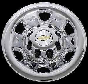 "4pcs for Chevy 1500 8 Lug 16/"" Chrome Wheel Skins Rim Simulators Hub Caps Covers"