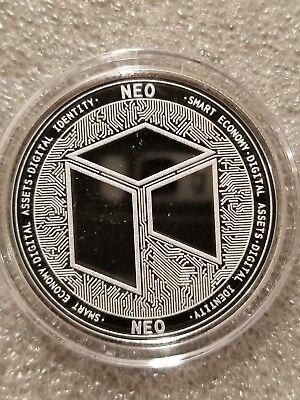 NEO 1 oz .999 silver commemorative coin crypto currency bitcoin eth smart btc