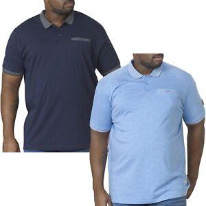 Duke D555 Mens Walker Big Tall King Size Short Sleeve Cotton Polo Shirt Tee Top
