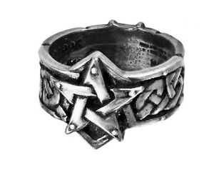 GENUINE-Alchemy-Gothic-Ring-Celtic-Theurgy-Men-039-s-Fashion-Jewellery
