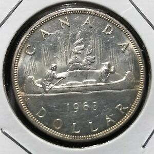 1963-CANADA-SILVER-DOLLAR-BRILLIANT-UNCIRCULATED-CROWN