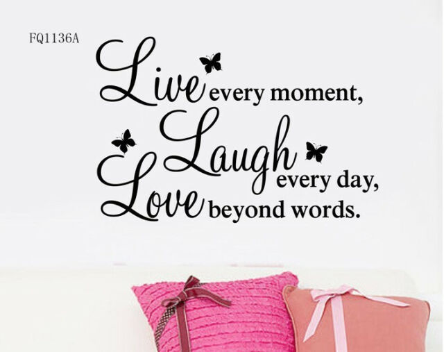 LIVE LAUGH LOVE Every Day Quote Art Mural Decal Home Decor Wall Stickers ZY1002