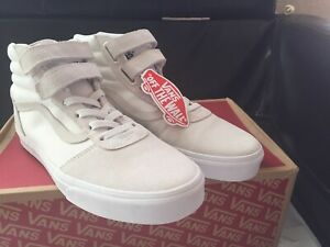 Détails sur Vans Ward Ballistic Men's 9.5 Skate Shoes NIB White Canvas Suede High Top