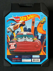 Hot-Wheels-Black-48-Car-Carrying-Storage-Organizer-Case-Holder-Matchbox-NEW