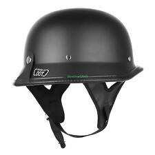 XL DOT Motorino del Motociclo Mezzo del Nero Casco Helmet Chopper Cruiser Biker