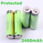 2~8 PCS panasonic protected 18650 NCR18650B 3400mah Rechargeable Li-ion Battery
