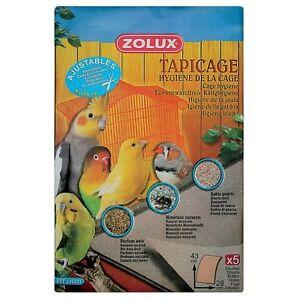 Tapis Sable De Fond Cage 43x28 Cm 5 Feuilles Lot 12 Paquets (146043)