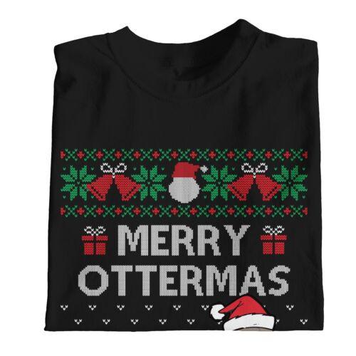 1Tee Womens Merry Ottermas T-Shirt